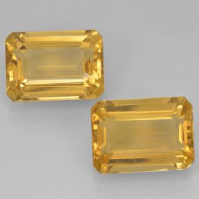 Yellow Golden Citrine Gem - 7.3ct Octagon Step Cut (ID: 500692)