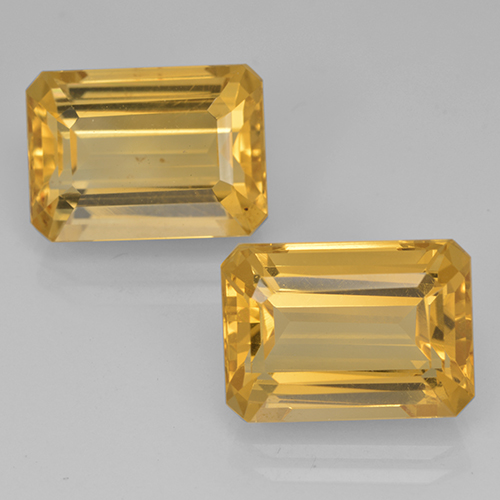 7.9ct Octagon Step Cut Yellow Golden Citrine Gem (ID: 500693)