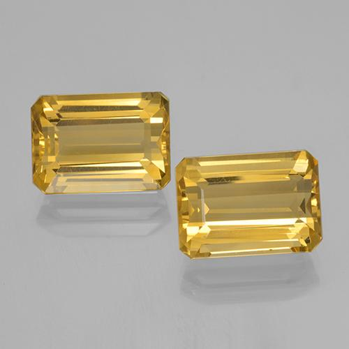 7.9ct Octagon Step Cut Yellow Golden Citrine Gem (ID: 500695)