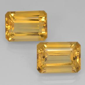 Yellow Golden Citrine Gem - 7.7ct Octagon Step Cut (ID: 500696)