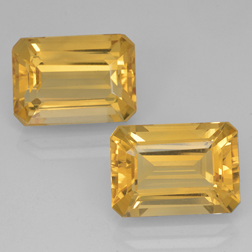 Yellow Golden Citrine Gem - 7.4ct Octagon Step Cut (ID: 500697)