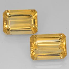 Yellow Golden Citrine Gem - 7ct Octagon Step Cut (ID: 500699)