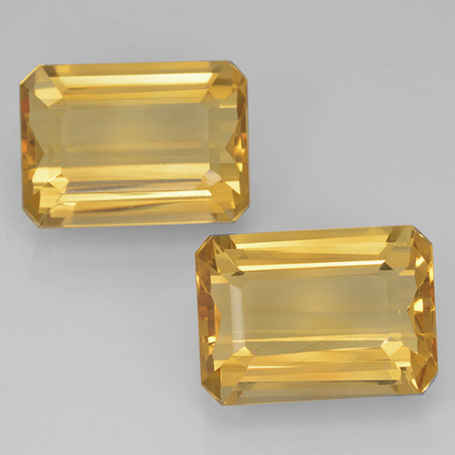 Golden Citrine Gem - 7.5ct Octagon Step Cut (ID: 500700)