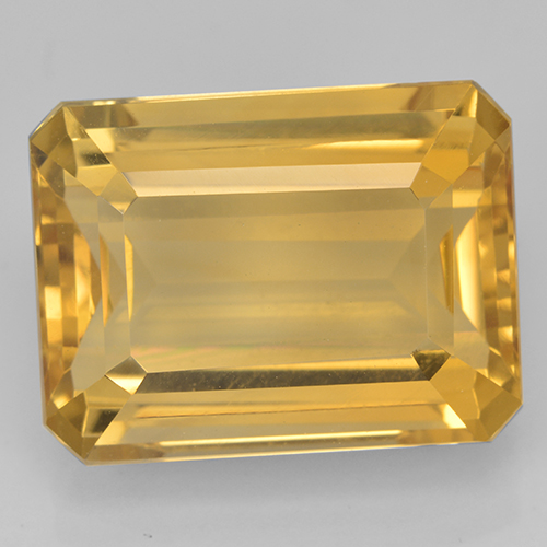 Deep Golden Orange Citrine Gem - 12.1ct Octagon Step Cut (ID: 500704)