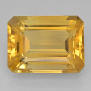 Dark Golden Citrine Gem - 11ct Octagon Step Cut (ID: 500708)
