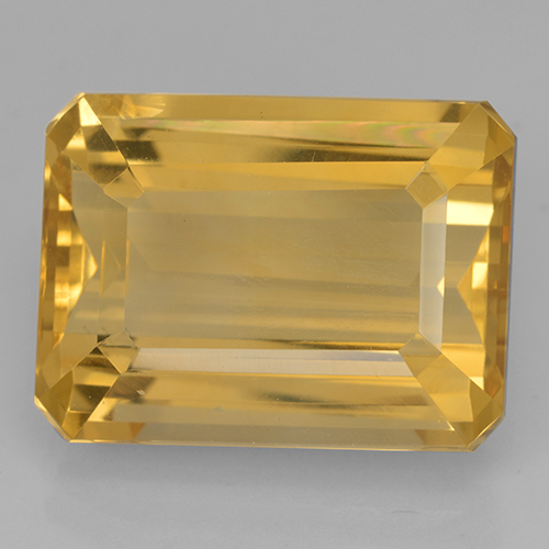 Dark Golden Citrine Gem - 12.3ct Octagon Step Cut (ID: 500712)