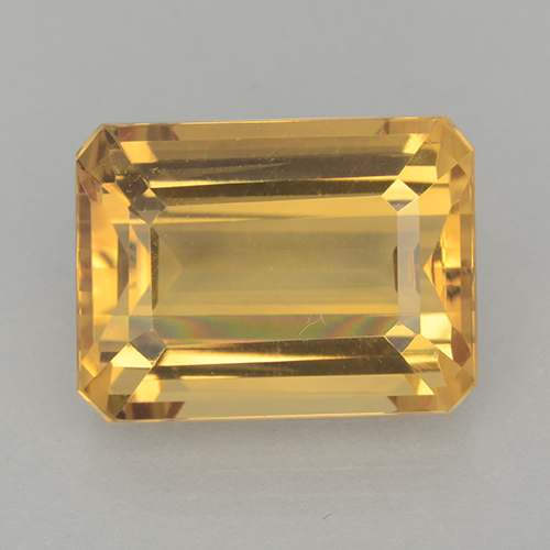 Medium-Dark Golden Citrina Gema - 12.6ct Corte octagonal (ID: 500716)