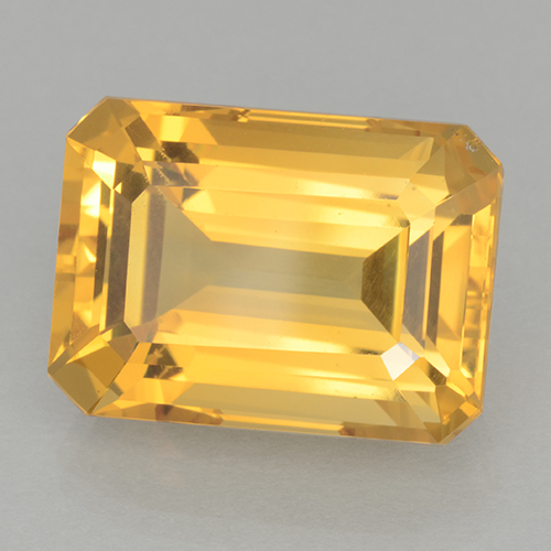 Medium Gold Citrina Gema - 16.3ct Corte octagonal (ID: 500720)