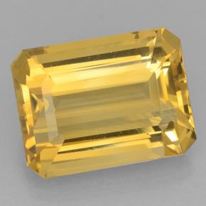 Golden Citrine Gem - 11.1ct Octagon Step Cut (ID: 500812)