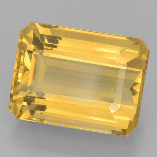 Bright Gold Citrino Gem - 13.3ct Taglio ottagonale (ID: 500820)