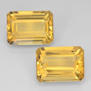 Yellow Golden Citrine Gem - 7.5ct Octagon Step Cut (ID: 500824)