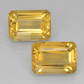 Yellow Golden Citrine Gem - 8ct Octagon Step Cut (ID: 500827)