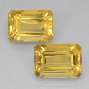 Medium Golden Citrine Gem - 8ct Octagon Step Cut (ID: 500828)