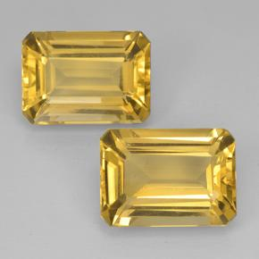 7.1ct Octagon Step Cut Yellow Golden Citrine Gem (ID: 500830)