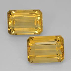 Yellow Golden Citrine Gem - 8.5ct Octagon Step Cut (ID: 500831)