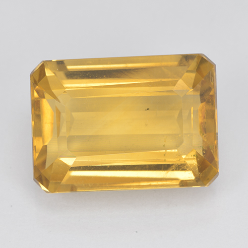 Medium Gold Citrina Gema - 7.5ct Corte octagonal (ID: 500846)