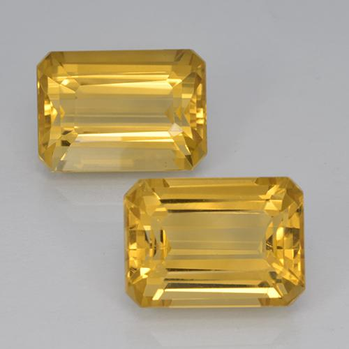 7.8ct Octagon Step Cut Yellow Golden Citrine Gem (ID: 500918)