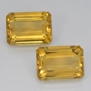 Yellow Golden Citrine Gem - 7.4ct Octagon Step Cut (ID: 500920)