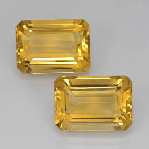 Medium Gold Citrine Gem - 7.5ct Octagon Step Cut (ID: 500921)