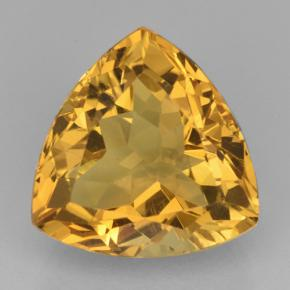 Yellow Golden Citrine Gem - 8.4ct Trillion Facet (ID: 501009)