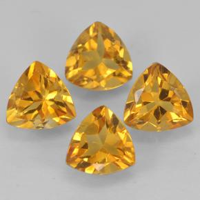 Deep Golden Orange Citrina Gema - 0.5ct Forma trillón (ID: 501076)