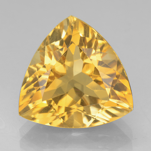 Bright Gold Citrina Gema - 4.8ct Forma trillón (ID: 501203)