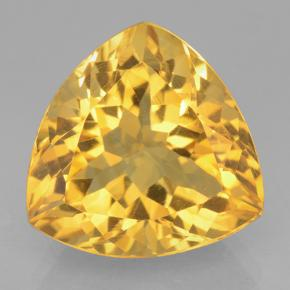 Medium Gold Citrina Gema - 6.3ct Forma trillón (ID: 501205)