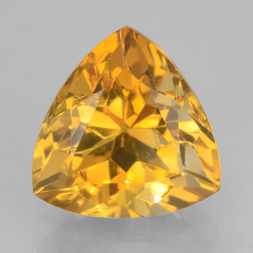 Orange-Gold Citrine Gem - 2.7ct Trillion Facet (ID: 501218)
