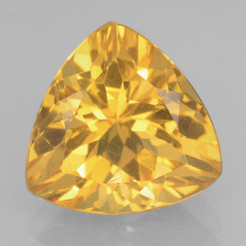 Bright Gold Citrina Gema - 2.4ct Forma trillón (ID: 501223)