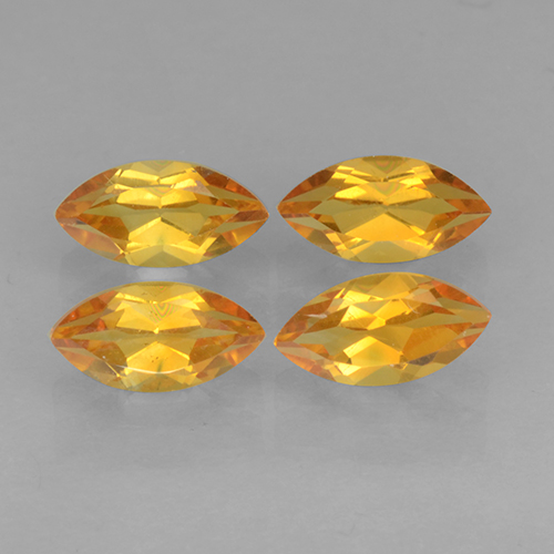 Yellow Golden Citrine Gem - 0.3ct Marquise Facet (ID: 501289)