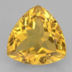 Medium Gold Citrina Gema - 7ct Forma trillón (ID: 501308)