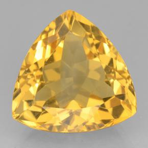 Yellow Golden Citrine Gem - 9ct Trillion Facet (ID: 501311)
