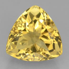 Yellow Golden Citrine Gem - 9.4ct Trillion Facet (ID: 501393)