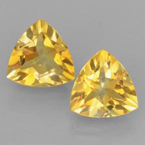 Yellow Golden Citrine Gem - 2.2ct Trillion Facet (ID: 501402)
