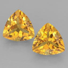 Yellow Golden Citrine Gem - 2.3ct Trillion Facet (ID: 501403)