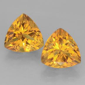 Yellow Golden Citrine Gem - 2.5ct Trillion Facet (ID: 501404)