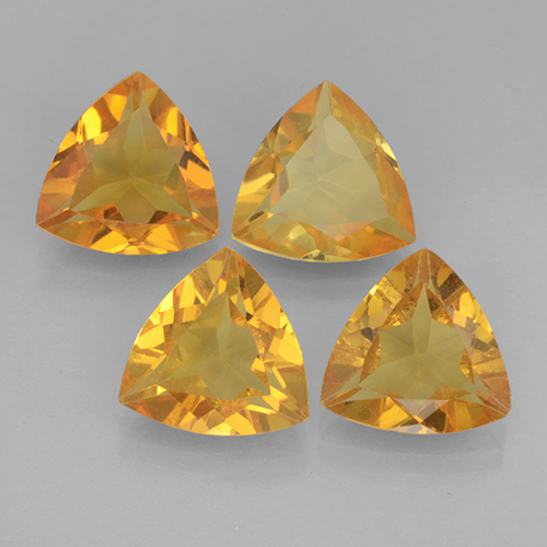 Yellow Golden Citrine Gem - 1.7ct Trillion Facet (ID: 501406)
