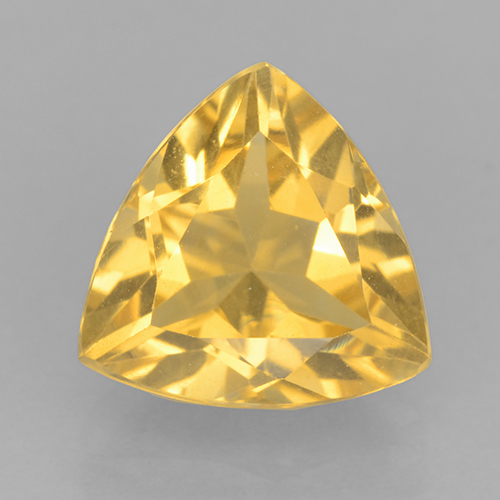Medium Gold Citrina Gema - 2.2ct Forma trillón (ID: 501583)