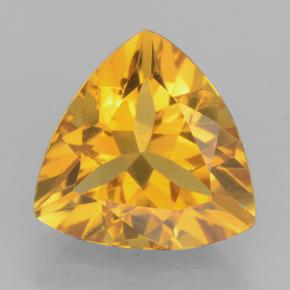 Dark Golden Citrine Gem - 2.2ct Trillion Facet (ID: 501624)