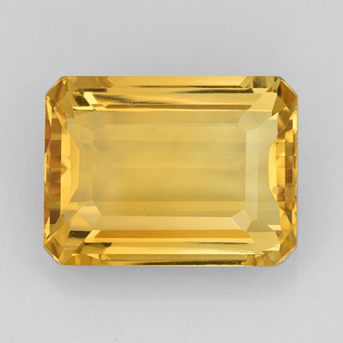 Medium Gold Citrina Gema - 10.8ct Corte octagonal (ID: 503450)