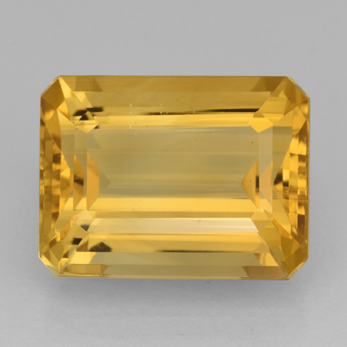 Medium Gold Citrine Gem - 12.6ct Octagon Step Cut (ID: 503454)