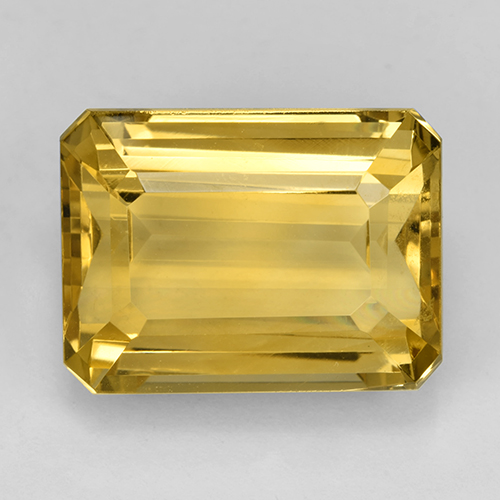 Golden Orange Citrine Gem - 12.7ct Octagon Step Cut (ID: 503629)