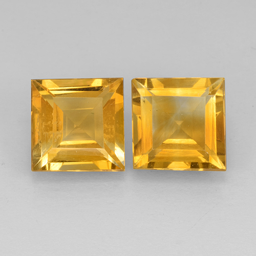 2.1ct Square Step-Cut Yellow Golden Citrine Gem (ID: 503751)