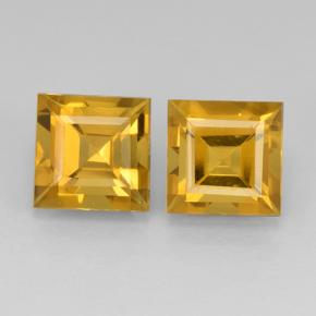 Deep Golden Orange Citrina Gema - 2.2ct Corte cuadrado step (ID: 503757)