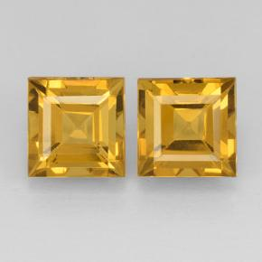Yellow Golden Citrine Gem - 2.3ct Square Step-Cut (ID: 503769)
