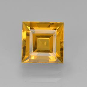 Yellow Golden Citrine Gem - 2.7ct Square Step-Cut (ID: 503988)