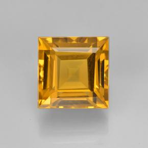 2.8ct Square Step-Cut Yellow Golden Citrine Gem (ID: 503989)