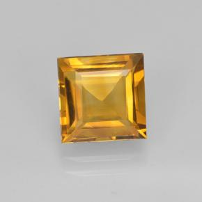 Yellow Golden Citrine Gem - 2.1ct Square Step-Cut (ID: 503992)