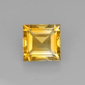 2.1ct Square Step-Cut Yellow Golden Citrine Gem (ID: 503994)