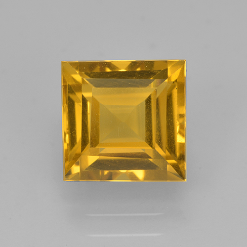 2.4ct Square Step-Cut Yellow Golden Citrine Gem (ID: 503999)
